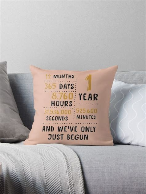 First Wedding Anniversary Throw Pillow Cover Gift