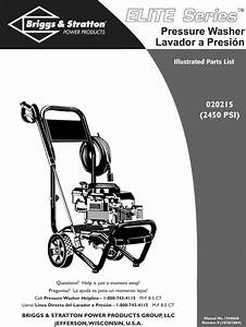 Briggs And Stratton 20215 Users Manual 1808 1es1