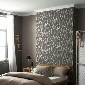Papier peint avec meuble blanc à Besancon Prix travaux peinture tapisserie Papier peint elitis paris
