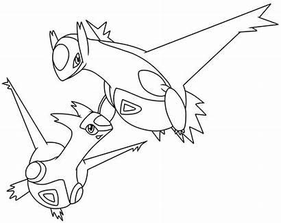 Pokemon Legendary Coloring Pages Ho Oh Latias