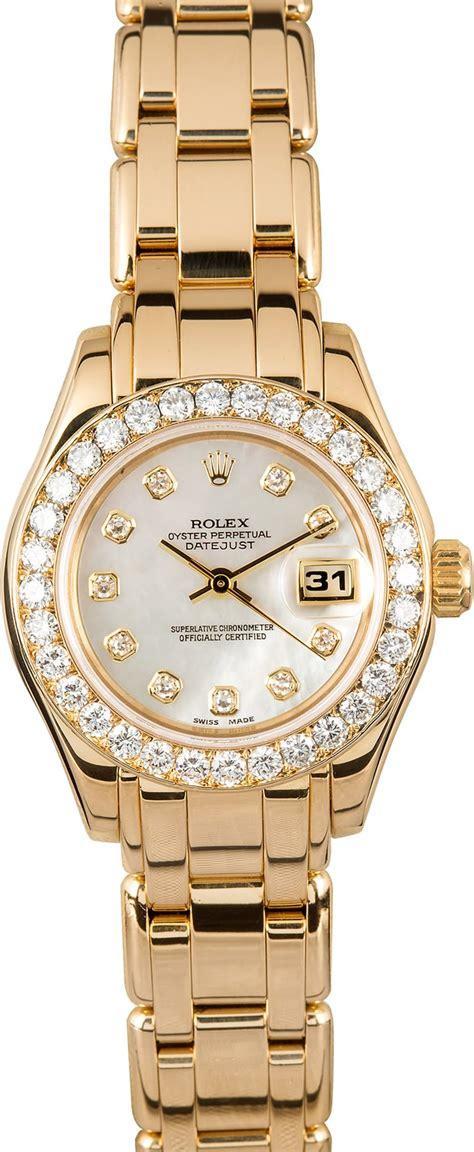 ladies rolex pearlmaster  diamond