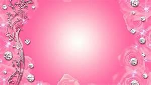 Pink Diamonds Background Wallpaper