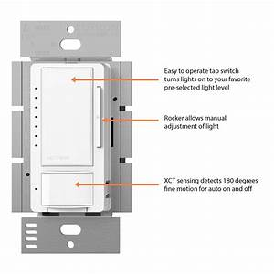 Lutron Maestro C L Dimmer And Motion Sensor For Dimmable