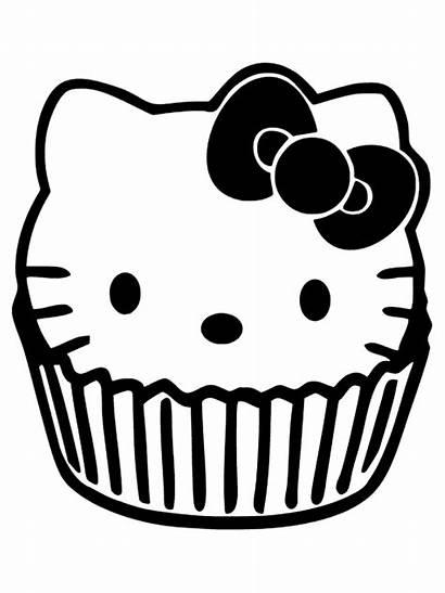 Kitty Hello Cupcakes Cupcake Clipart Ausmalbilder Kleurplaten