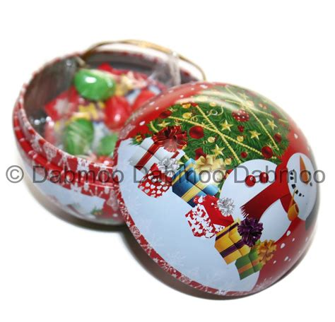 candy filled christmas decoration bauble tin assorted design tree sweets gift ebay