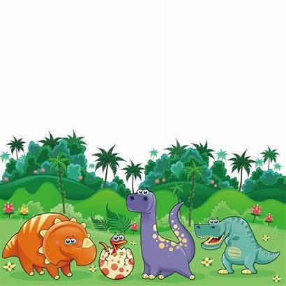 Dinosaur Cartoon Dinosaurs Clipart Transparent Triceratops Landscape