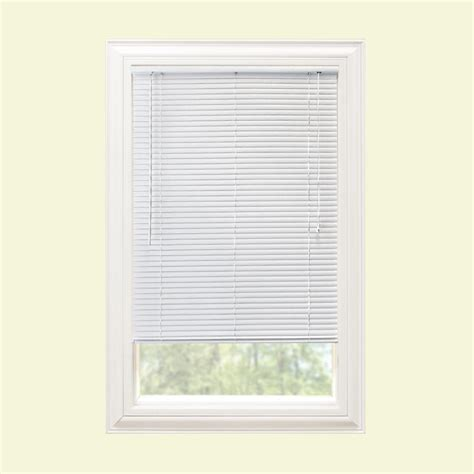 Mini Blinds by Hton Bay White 1 In Room Darkening Vinyl Mini Blind