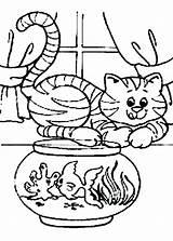Fish Cartoon Coloring Tank Piranha Cat Fishes Getcolorings Printable Whith Colorin Getdrawings Popular sketch template