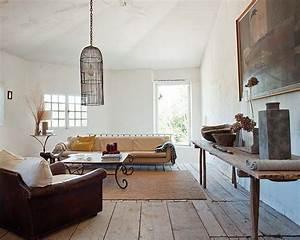 decoration maison de campagne un melange de styles chic With tapis de gym avec canapé campagne chic