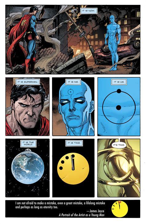 dc comics universe doomsday clock  spoilers review