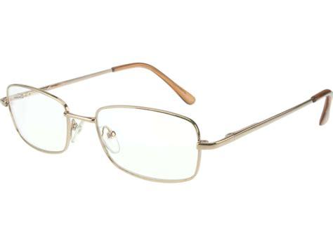 Fake Non Prescription Clear Glasses Gold Full Frame