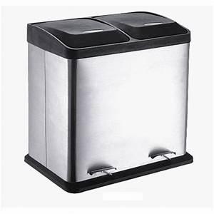 Poubelle De Tri Selectif : casaprice poubelle tri selectif 2 x 22 litres poubelle ~ Farleysfitness.com Idées de Décoration