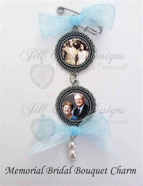 memorial bridal bouquet charms wedding bouquet charms