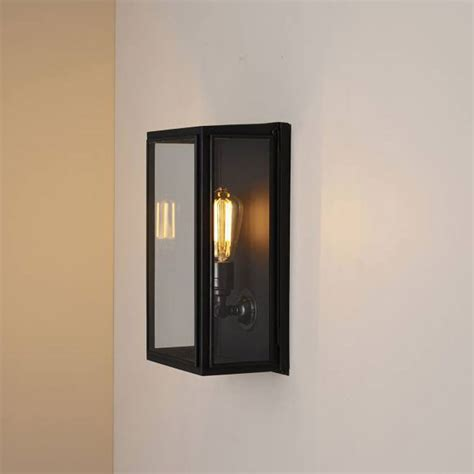 box medium external glass small wall light all square