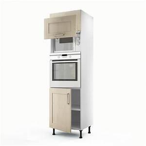 Meuble de cuisine colonne blanc 3 portes Ines H 200 x l 60 x P 56 cm Leroy Merlin
