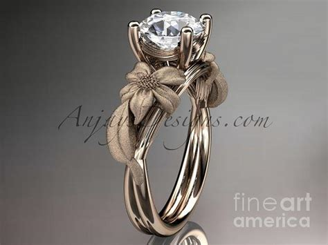 rose gold diamond leaf and vine wedding ring ngagement ring adlr189 jewelry by anjaysdesigns com