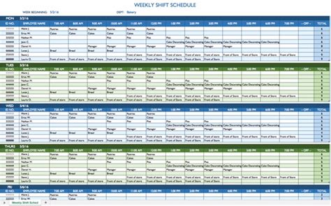 rotating shift schedule template task list templates