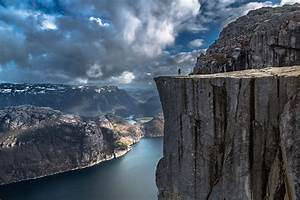 Photography, Landscape, Nature, Cliff, Mountains, Clouds, Fjord