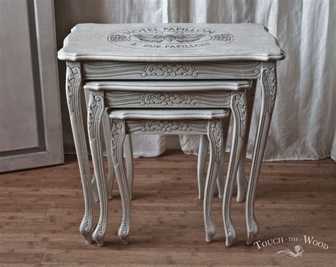 Of Table by Shabby Chic Nest Of Tables With Print No 21