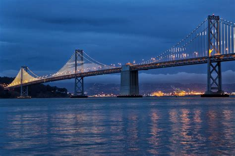 bay lights on the san francisco bay bridge