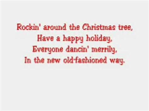 hannah montana lyrics rockin around the christmas tree