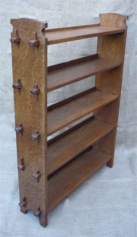 Arts And Crafts Bookcase Plans - arts and crafts bookcase of pegged construction antiques