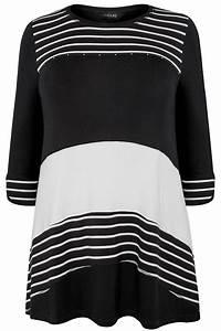 Bon Price Mode : top noir blanc rayures grande taille 44 64 ~ Eleganceandgraceweddings.com Haus und Dekorationen
