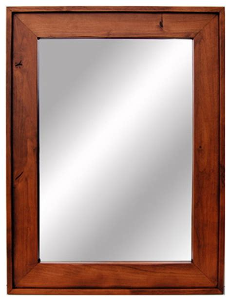 wooden mirror cherry wood stained mirrors  custom