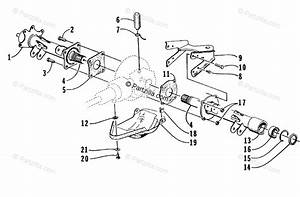Arctic Cat Atv 1999 Oem Parts Diagram For Rear Axle Assembly