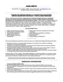resume format marketing professional top marketing resume templates sles