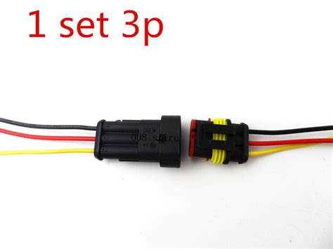 Set Pin Way Sealed Waterproof Electrical Wire Connector