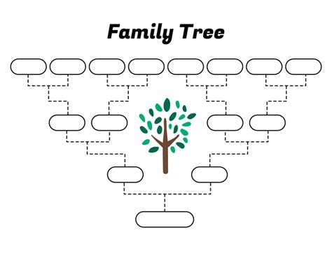 Four Generation Family Tree Template Free Simple Family Tree Template Free Family Tree Templates