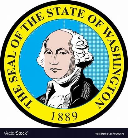 Seal Washington State Vector Royalty Vectors