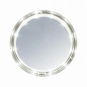 Miroir Rond Led : miroir oslo rond leds et ventouses 13 cm ~ Teatrodelosmanantiales.com Idées de Décoration