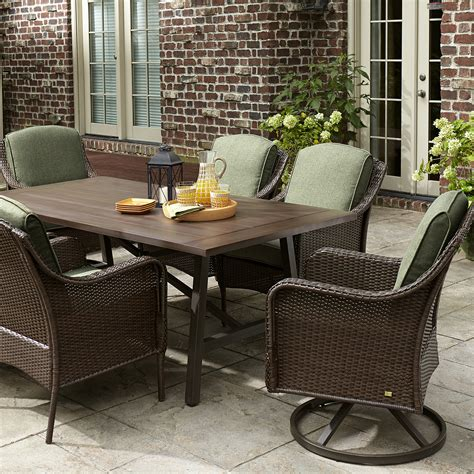 la z boy madeline 7 dining set green outdoor