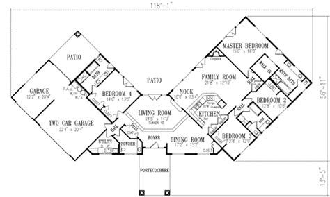 V Shaped Home Design : V-shaped Floorplan For Corner Lot