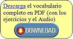 vocabulario ingl 233 s espa 241 ol el jard 237 n