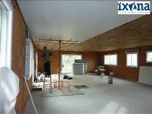 Pose D Un Faux Plafond En Ba13 : pose d 39 un plafond suspendu en plaques ba13 youtube ~ Melissatoandfro.com Idées de Décoration