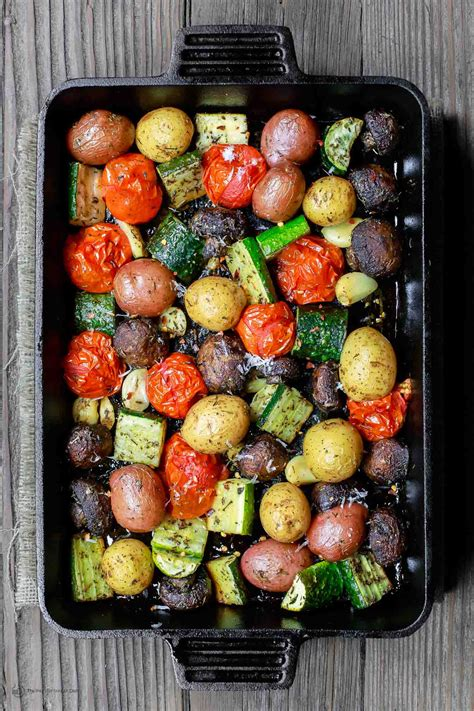 how to roast vegetables in oven best italian oven roasted vegetables the mediterranean dish