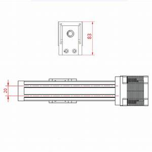 Manual Linear Rail Guide Slide Driver Actuator Ball Screw