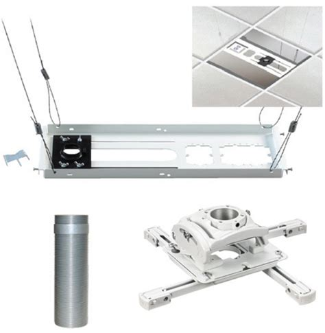 Projector Mount Drop Ceiling Kit by Chief Manufacturing Kitez006w Universal Ceiling Projector