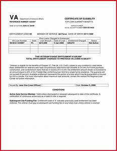 va home loan coe enlement code 10 homemade ftempo With va home loan qualification letter