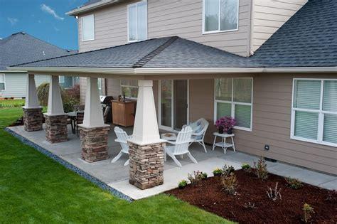 back patios how to design idea covered back patio wilson rose garden