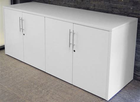 Lockable Sideboard by White Woodgrain U Shaped Reception Desk