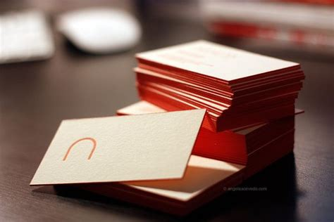 acevedo rebrand business card inspiration letterpress