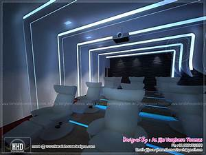 Home theater and spillover space interiors