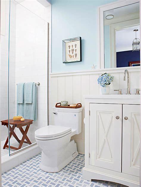 Bathroom Tour Blue & White Cottage Style