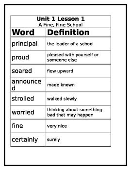 3rd grade journey s vocabulary worksheet lesson 1 by miss