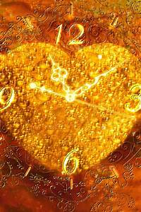 640x960 HD iPhone Wallpaper: Love Heart Clock : 【Love ...