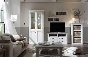 Wohnzimmermöbel Weiß Holz : maisonette von wehrsdorfer wohnwand vintage wei wohnw nde online kaufen ~ Frokenaadalensverden.com Haus und Dekorationen
